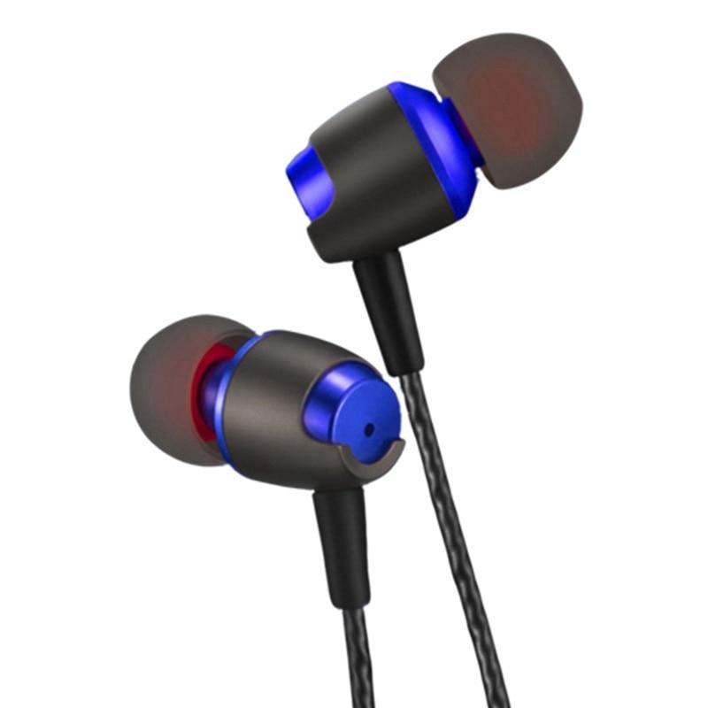 ollivan metal in ear earphones 3 5mm wired bass headphones with microphone dj headset for phone. Black Bedroom Furniture Sets. Home Design Ideas