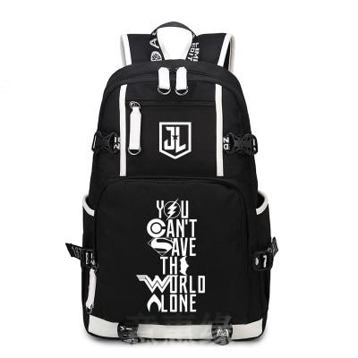 Hot Anime Justice League Backpack Cosplay Fashion superhero Canvas Bag Luminous Schoolbag Travel Bags hot martin garrix backpack canvas bag luminous schoolbag travel bags