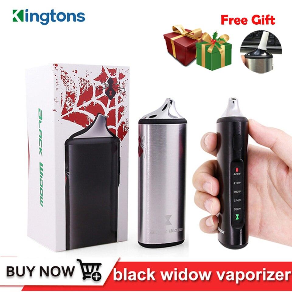 D'origine Kingtons herbe sèche vaporisateur à base de plantes e cigarette Noir Veuve box mod pour vape vaporisateur vaporisateur ensemble de cire 2200 mAh de chauffage En Céramique