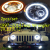 1997 2014 Car Styling For Wrangler Headlights JK LJJ TJ LED Cherokee Comanche Commander Liberty Tj