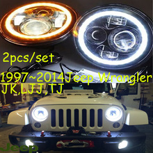 1997~2014,Car Styling for Wrangler Headlights,JK,LJJ,TJ,LED,cherokee,comanche,commander,Liberty,tj,Wrangler head lamp