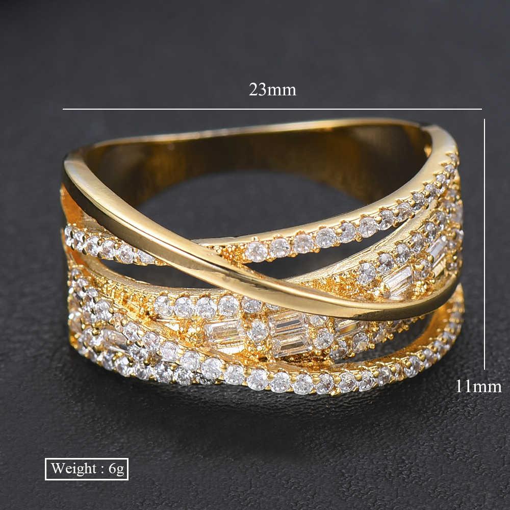 Missvikki anel de casamento nupcial bague femme dedos anéis para mulheres claro zircônia cúbica encantos novo design jóias