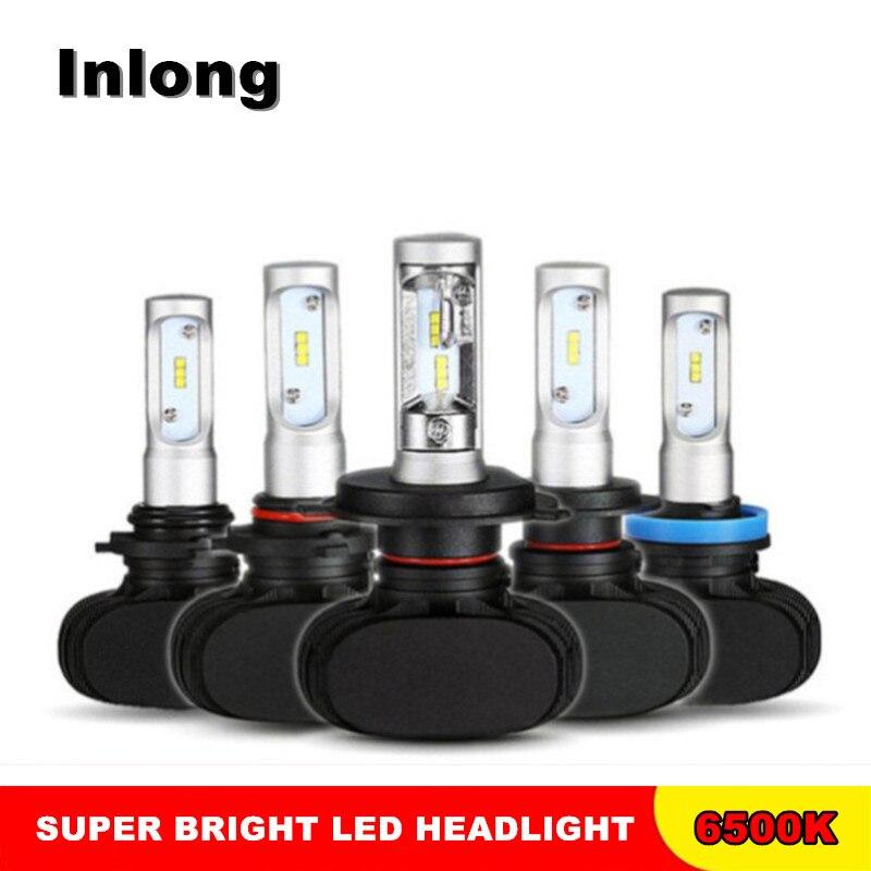 INLONG 2 stücke H7 LED H4 H1 H8 H9 H11 H13 H27 880 9005 9006 50 watt 8000LM 6500 karat auto Scheinwerfer Auto LED Scheinwerfer Birne Nebel Lichter 12 v
