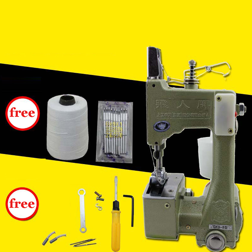 ФОТО 3PC GK9-8 Portable Manual sewing machines,Hand Packet machine,electrical portable sewing machine.rice bag seale