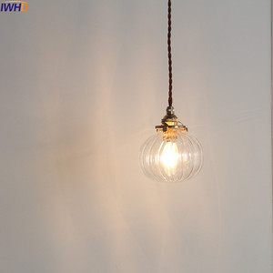 Image 4 - IWHD Nordic Glass Ball Pendant Light Fixtures Dinning Living Room Copper Vintage Pendant Lamp Hanging Lights Home Lighting