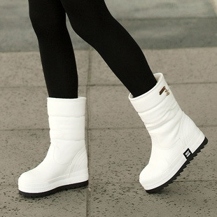 Aliexpress.com : Buy White snow boots winter solid color brief ...