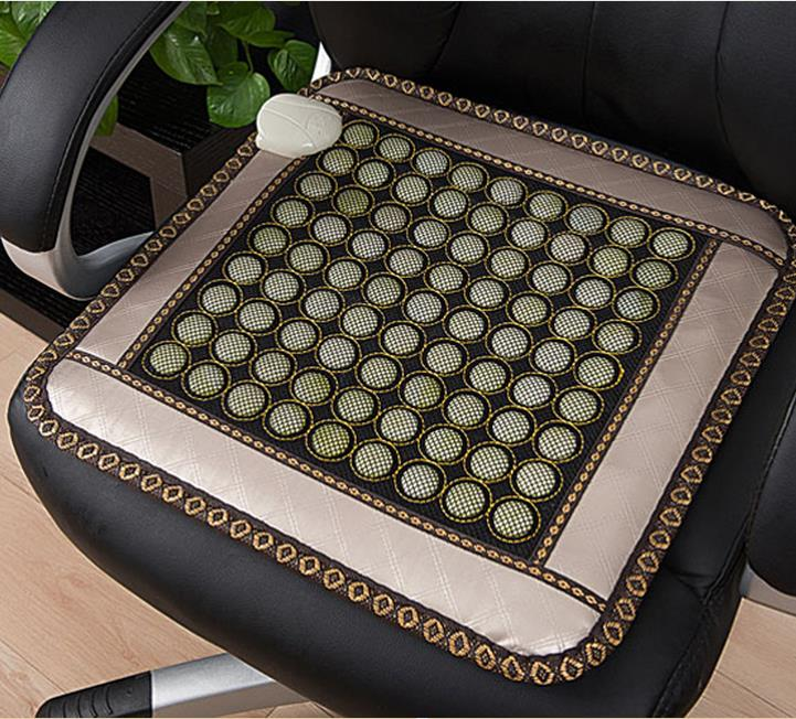 New home jade cushion electric heating germanium stone cushion ms tomalin care office heating cushion cushion 45 * 45 cm new fashion home massage cushion chair cushion heating pad germanium stone cushion tomalin ochre buffer s office