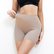 Sexy Women Seamless Safety Short Underwear Soft Cotton Pants Summer Under Skirt Shorts Ice Silk Breathable Tights Hip Pads