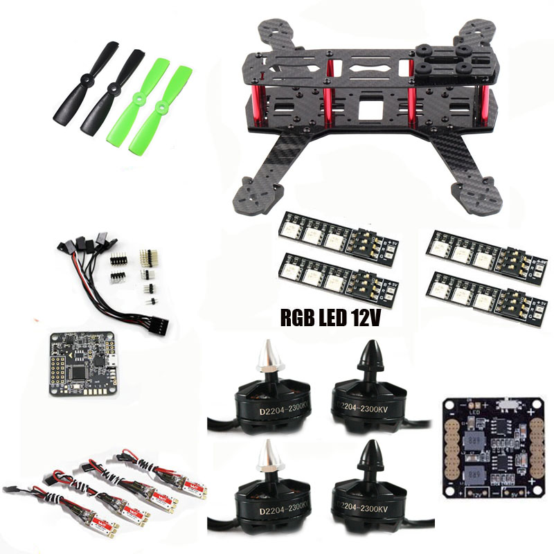 DIY QAV250 ZMR250 quadcopter frame kit NAZE 32 REV5 10DOF Flight Control D2204 motor WST 12A ESC for cross racing drone FPV high quality micro scisky 1s 32 bits brushed flight control board naze 32 for quadcopter accessories