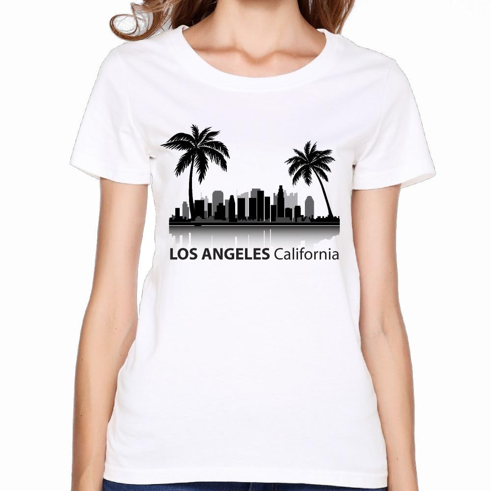 2017 california los angeles printing women premium cotton for Bulk t shirts los angeles