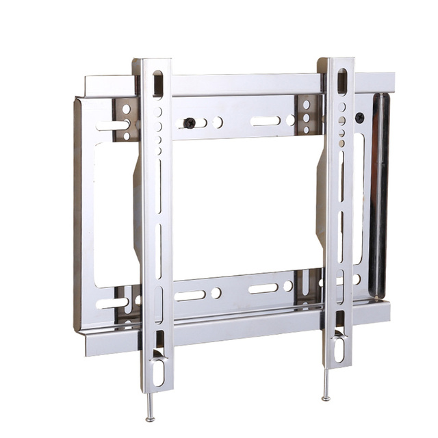 Universal Tv Wall Mount Flat Screen Stand Fixed Slim Strong Le Bracket Stainless Steel
