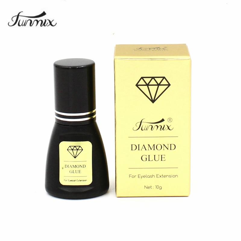 FUNMIX New 1 Second Dry Diamond Glue Nano Profession Eyelash Extension Glue Keep 60days Low Oder