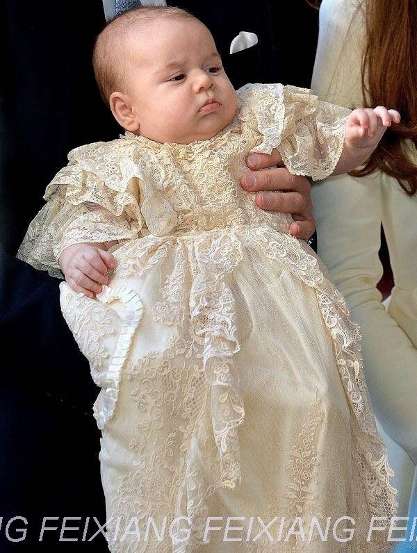 Baby Girl Dress Kids Pageant Dresses White Infant Boy Baptism Girl ...