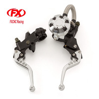 FX CNC 7 8 Motorcycle Brake Clutch Lever Master Cylinder Reservoir Hydraulic For Hyosung GT250R 2006