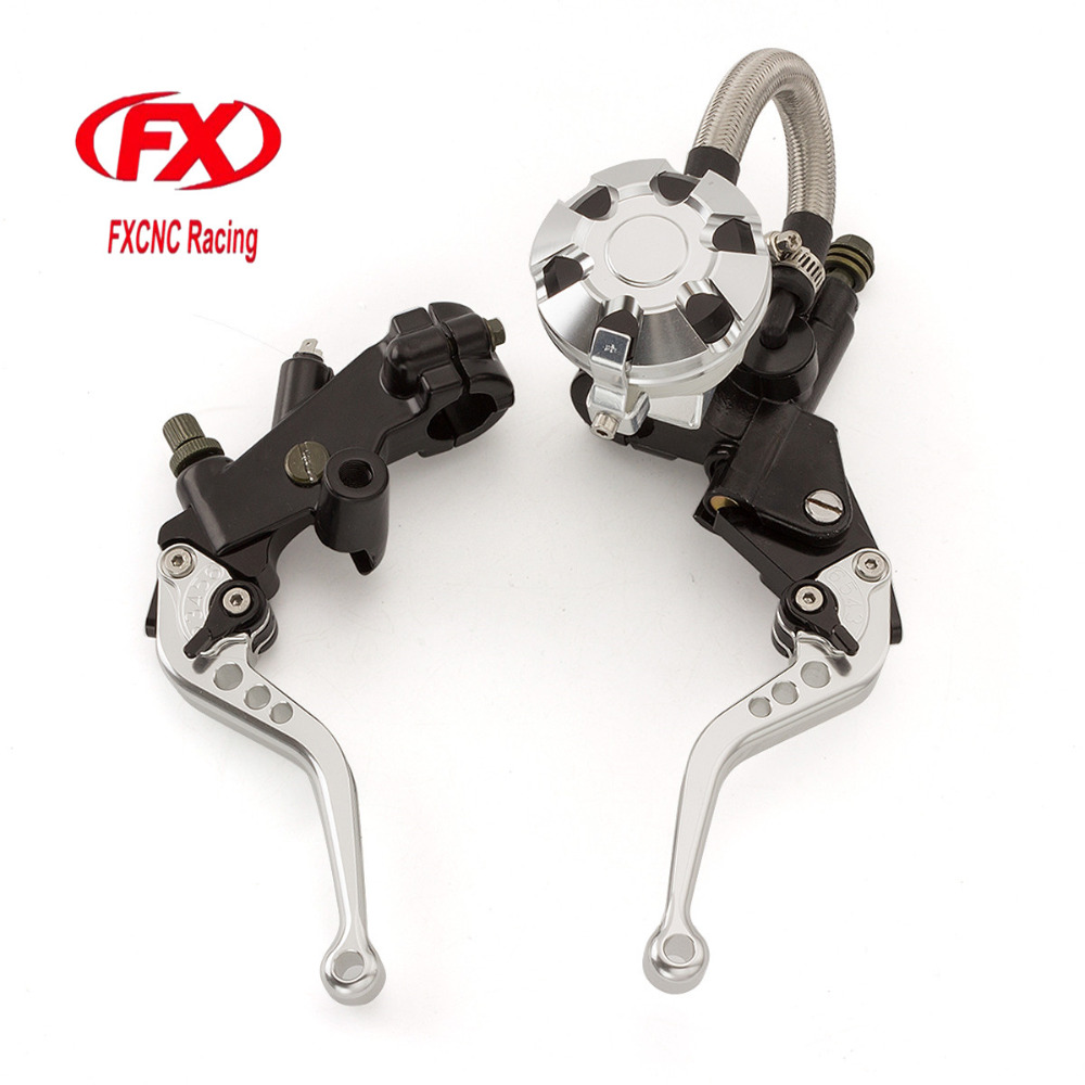 FX CNC 7/8 Motorcycle Brake Clutch Lever Master Cylinder Reservoir Hydraulic For Hyosung GT250R 2006 - 2010 2009 2008 2007