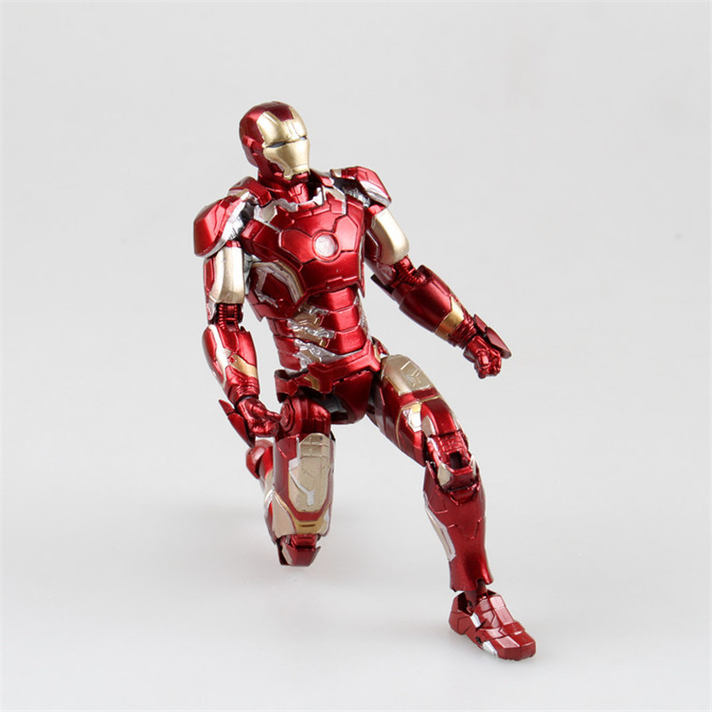 The Avengers Iron Man Mark MK43 PVC Action Figure Ironman Figurine Collectible Model Doll Kids Toys 17cm 17cm 1set super heros the avengers iron man mark 43 with tony s sofa pvc action figure model children toys doll collection