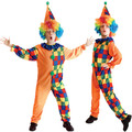 Free Shipping Cute Kids Clown Costumes Halloween Christmas Carnival Masquerade Party Boys Fancy Dress Children Cosplay Clothes