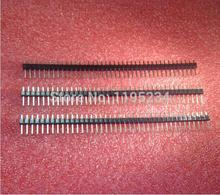 200pcs/lot 1x40 Pin 2.54mm DIP Single Row Pin Square Male Pin Header Connector Best quality