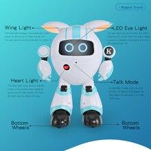 Surwish Smart Walking Robot RC Electronic Dancing Singing Robot Toy For Children - Blue/Orange цены