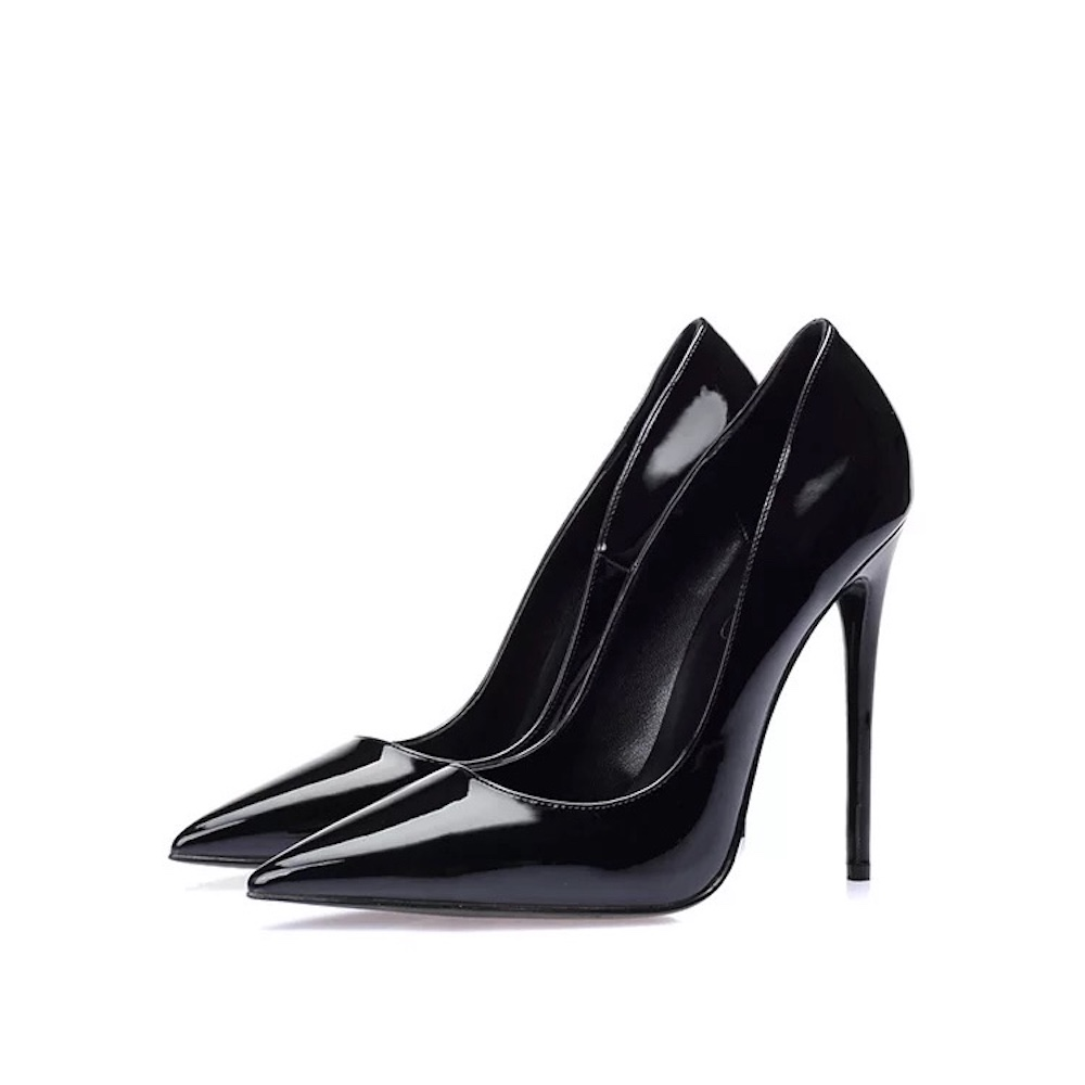 Sexy Patent Leather Side Space Gladiator Women Pumps Fashion Designer Luxury Brand Classic Ladies Top Quality