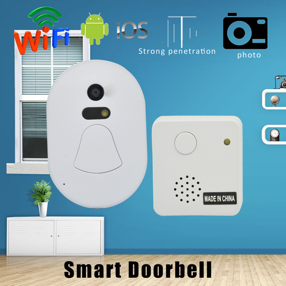 1 PCS Strong penetration Smart Doorbell Home use Wireless Door intercom White LED night vision