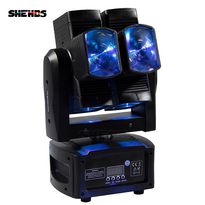 LED de 8 ojos ruedas calientes 8x10w haz de luz móvil de escenario DMX Luz de escenario para DJ luz KTV luz LED para el hogar