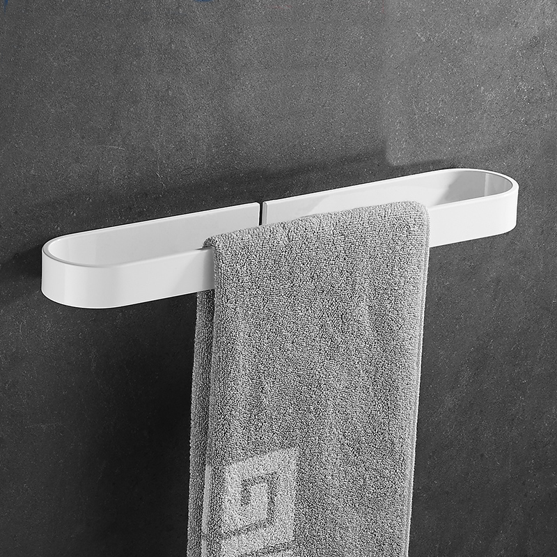 A1 Bathroom Towel Bar Free Stamping Towel Rack Hanging Rod Bathroom Paint White Towel Rack Single Rod LO5191733 lengthened thickening bathroom towel bar single lever rack free nail
