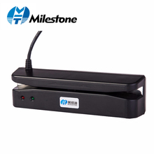 Milestone Reader Magnetic Strip Card Slip Scanning 35mA Standard VIP Card Scanner USB Port Main for Supermarket/Shop MHT-400 1000pcs custom vip card printing membership loyalty cards member magnetic strip plastic card 1 pcs 2nd track reader