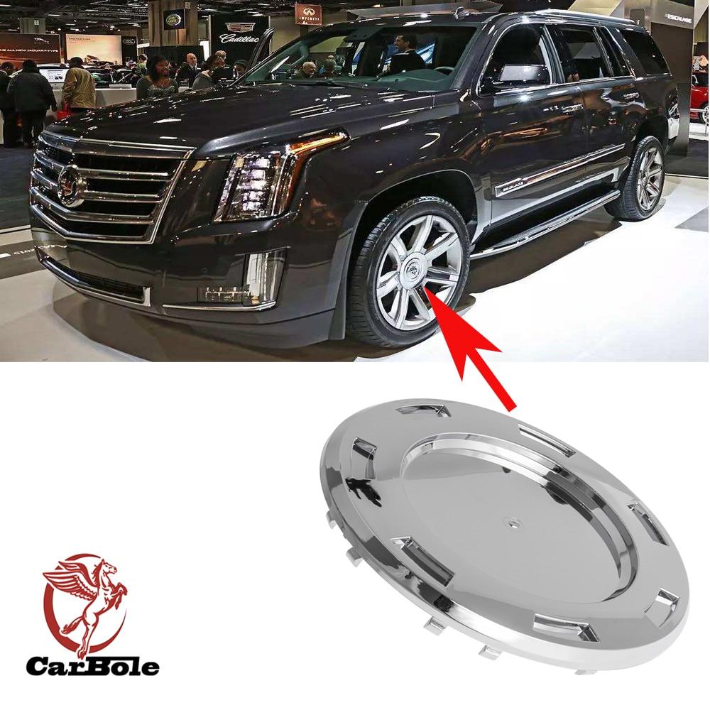 """2014 Cadillac Escalade For Sale: CARBOLE 1pc For Cadillac Escalade ESV EXT 2007 2014 Chrome 22"""" 7 Spoke Wheel Center Cap Caps W"""