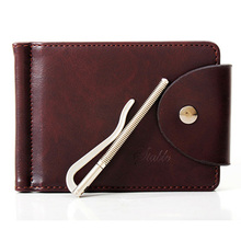 Money Clips Men Wallets Brand Designer PU Leather 2 folds Open Clamp For Money With Card Slot carteras hombre–BID128 PM49