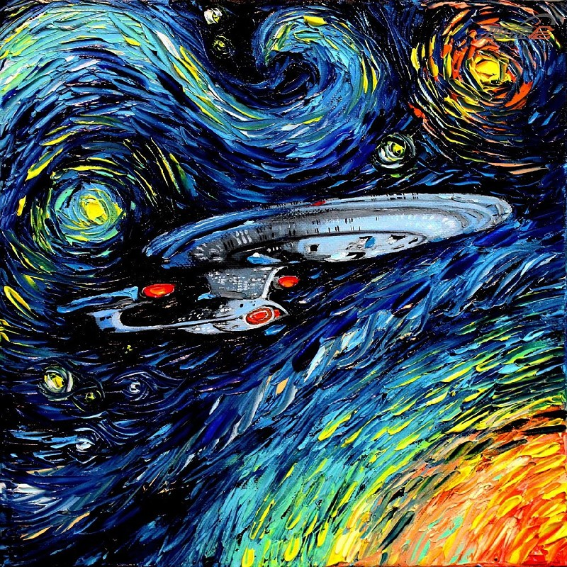 Canvas art Painting USS Enterprise spaceship Movie Art canvas poster print Room Wall Dec ...