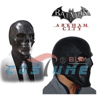 Hot Movie Batman Roman Sionis Full Face Latex Black Mask Halloween Party Cosplay Costume New Arrival
