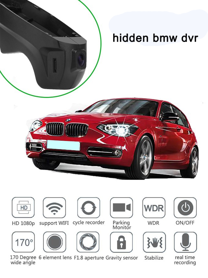 PLUSOBD Free Ship QCQ Certification Wifi Car DVR For BMW 3 Series 1 Series X1 HD Car Camera Recorder With Front Cam And OBDII  free ship camcorder car for mercedes benz s class 2007 12 middle configuration car dvr camera with one lens and obdii adapter