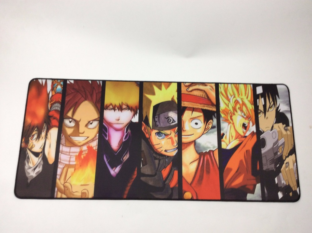 Image 5 - Yuzuoan One Piece Dragon Ball Z 900x400x3mm Notbook Computer Japan Anime Mousepad Big Gaming Laptop Table Overlock Mouse Pad-in Mouse Pads from Computer & Office