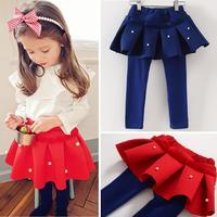 Mới Đến Mùa Thu cô gái Bán Lẻ legging Cô Gái Váy-quần Bánh váy cô gái bé quần trẻ em cạp Váy-quần bánh váy