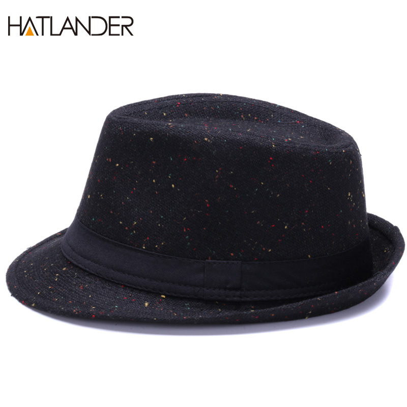 34e789a07a9 HATLANDER Retro Gentleman panama fedora hat mens Jazz billycock cap outdoor  trilby chapeau Derby church hats top fedoras-in Fedoras from Apparel  Accessories ...