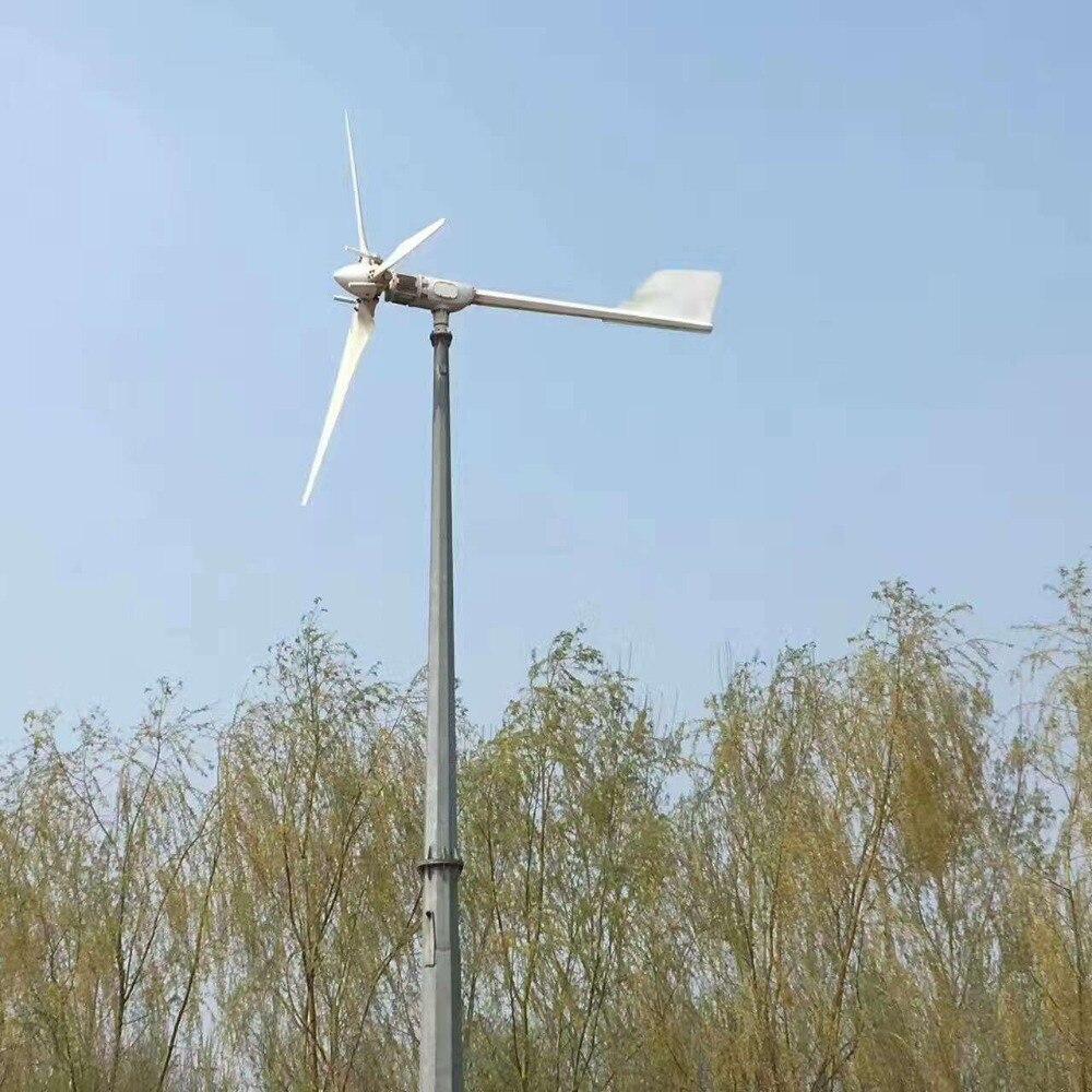 2000W/2KW 48V/96V horizontal wind turbine power generator wind mill for home, boat use 1000w 48v ac three phase wind turbine generator for home use for boat