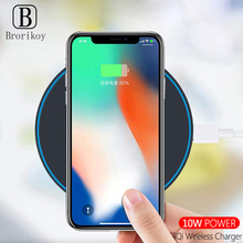 QI Wireless Charger 10W Fast Charging for Samsung Galaxy S8 S9 S10 Note 8 9 USB Wireless Quick Charge for iPhone X Xs Max 8 Plus