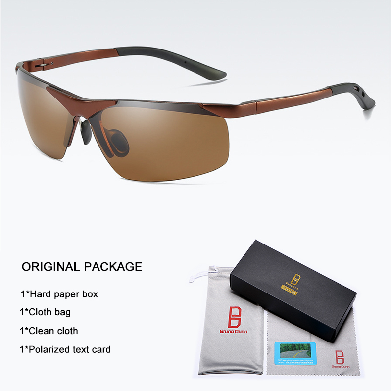 Bruno dunn 2020 Men Sunglasses Polarized uv400 high quality oculos de sol masculino oversized sunglases lunette soleil homme 8