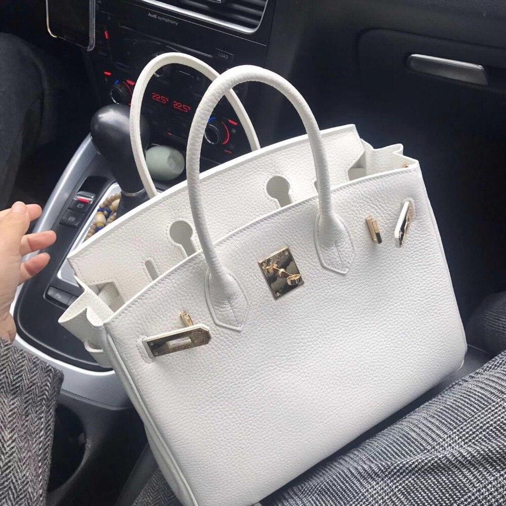 Sac à main de luxe en cuir véritable pour femme sac en cuir véritable de haute qualité sac à poignée supérieure couleur blanche