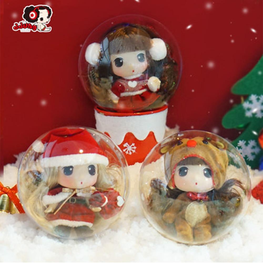 Ddung Doll Genuine Korean Custom Toy Princess Dolls  BJD Mini  Girls Birthday Present Key Pendants Christmas Decoration 9CM