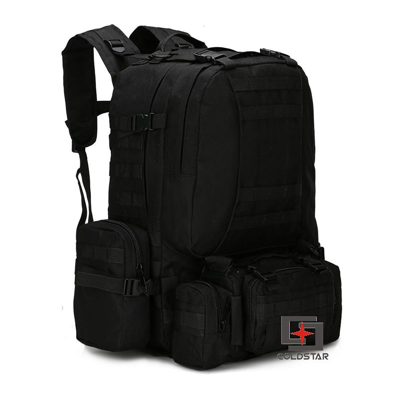 ФОТО New Arrival Black Camo Sports Outdoor Military Tactical Backpack Travel Bags High Quality Camping Bag Hiking Trekking Bagpack