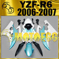 Motoegg Injection Fairing Fit YZF-R6 YZF R6 2006 2007 White Blue Y66M44 + Tank   Motorcycle plastic