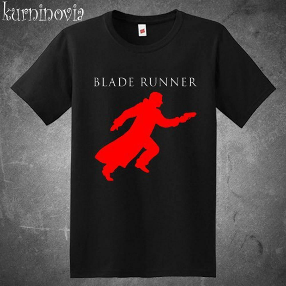 NEW BLADE RUNNER SCI FI MOVIE LOGO MOVIE MEN'S BLACK SHIRT USA SIZE S-XXXL ZM1 Short Sleeves Cotton T-Shirt Fashion image