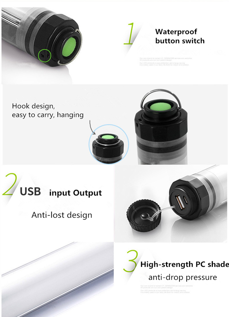 HTB1juOcXKOSBuNjy0Fdq6zDnVXak - 450LM Camping Light IP68 Waterproof for Fishing Hiking 4Mode Dimming Portable 10500mAh Rechargeable Battery LED Outdoor Lamp