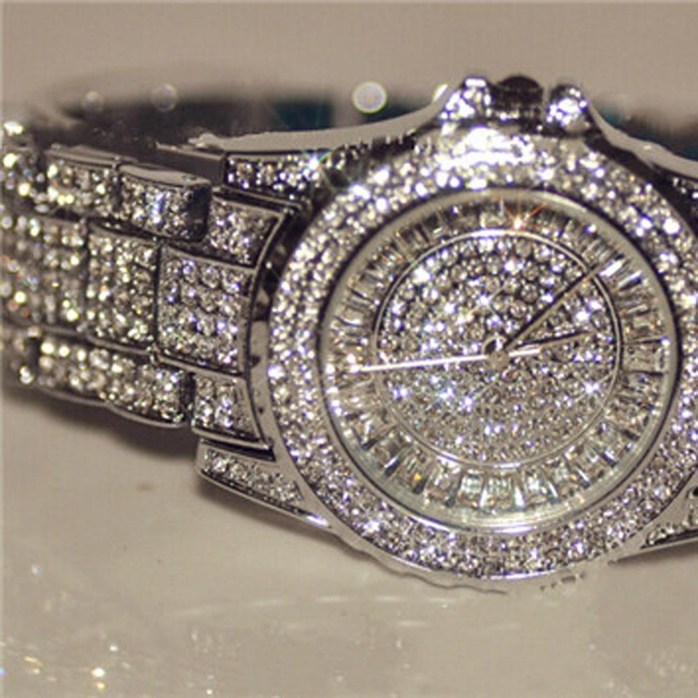 2020 New Arrival Luksusowe zegarki damskie Rhinestone Kryształowy - Zegarki damskie - Zdjęcie 2