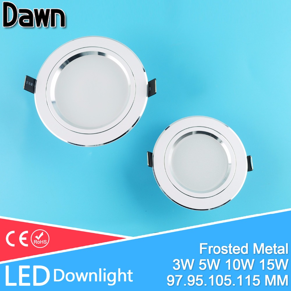 LED Downlight 3W 5W 10W 15W Aluminum Bombillas Led down lights AC 110V 220V LED Down Light Ceiling Recessed Foyer Chandelier(China)