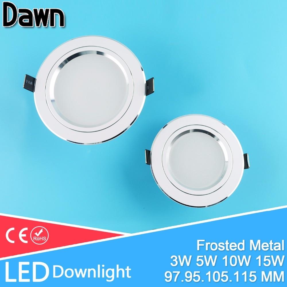 LED Downlight 3W 5W 10W 15W Aluminio Bombillas Led abajo luces AC 110V 220V LED abajo Luz de techo Empotrable Foyer Chandelier