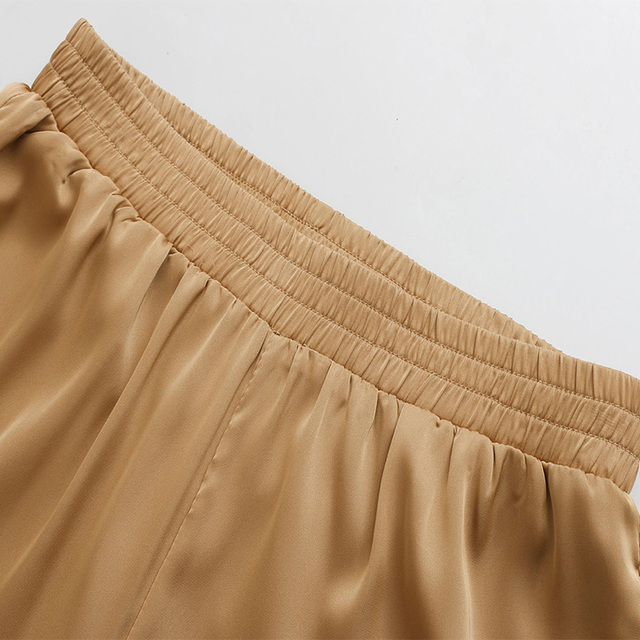 Arvinxia ZA New Fashion Solid Elastic High Waist Woman Pants Sexy Flat Loose Gothic Style Woman Trousers Chic Boho palazzo pants