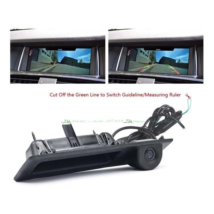 Sony ccd autó hátsó kamera részére BMW Trunk fogantyú kapcsoló Parkoló kamera F10 F11 F25 F30 BMW 5 BMW 5/3 X3 hátsó kamera
